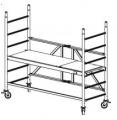Rusztowania aluminiowe ProTec - Platforma 0,70 x 2,0m - składana podstawa