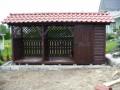 Drewutnia ozdobna z dwuspadowym dachem pod dachówkę