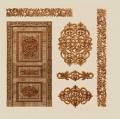 Zestawy elementów rzeźbionych do drzwi