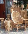 Krzesła z wikliny z markizą