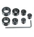 Zestaw 7 zderzaków pierścieniowych o średnicach 3-12 mm, stalowych OTG