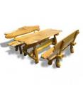 Komplet stół z ławami,