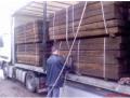 Drewniane podkłady kolejowe używane pochodzące z rozbiórki torów kolejowych