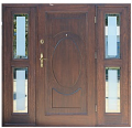 """Drzwi zewnętrzne sosnowe """"Paolla"""" + 2 doświetla boczne"""