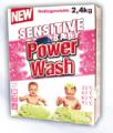 Delikatny proszek do prania bielizny niemowlęcej POWER WASH BABY SENSITIVE 2,4kg