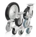 Колеса и колесные пары с шинами от стандартной полной каучука и резины протектора