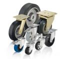 Колеса и колесные пары для высоких нагрузок с эластичной шины резина полный