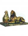 Figurka Sfinks z urną - Małpa