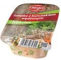 Sałatka z kurczakiem wędzonym i brokułem