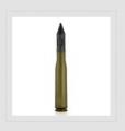 Nabój z pociskiem podkalibrowym APDS-T zbudowany z rdzenia wolframowego, sabota, smugacza i czepca balistycznego