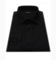 Koszula męska długi rękaw czarna SLIM