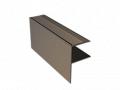 """Listwa Schodowa Aluminiowa """"F"""" do wykończenia naroży schodó i obrzeży tarasów"""