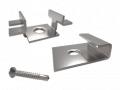 Zestaw Montażowy ProClip ze stali nierdzewnej do łączenia desek kompozytowych