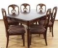 Zestaw mebli stylowych krzeseł ze stołem rozkładanym 67671
