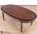 Owalny stół kawowy 60790 stylowy stolik drewniany