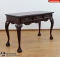 Piękne biurko rzeźbione z 3 szufladami w blacie 117054 konsola