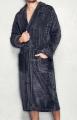 Długi szlafrok męski, wzorzysty wiązany w pasie/ Long bathrobe male, patterned tied at the waist