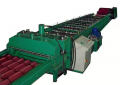 Full automatic, complete, technological lines for roof - tile profiling
