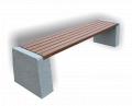Ławka betonowa parkowa bez oparcia nr kat. 163, ławki betonowe miejskie