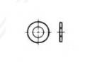 DIN 125 / DIN 126 PN 82005 ISO 7089 / ISO 7090 podkładki okrągłe płaskie ocynkowane galwanicznie, ogmniowo lub termodyfuzyjnie