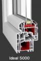 Sztywne okna z PVC pięciokomorowe o zaokraglonej linii profilu z ukrytą uszczelką przyszybową