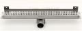 Odwodnienie liniowe ścienne, odpływ z flanszą wygiętą na ścianę,  syfon metalowy
