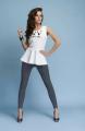 Длинные хлопковые леггинсы Клэр INFATTI бренда. Размерный ряд: S, M, L, XL, XXL, XXXL  17 цветов