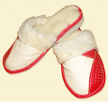Pantofle licowe, kapcie ocieplane