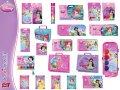 Produkty szkolne z kolekcji PRINCESS - zeszyty, teczki, segregatory, farby, bruliony, notesy, kredki, plastelina, itp. itp.