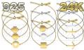 Bransoletki gwiazd celebrytki srebrne/ rodowane/ pozłacane Celebrytka 10 wzorów