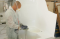 Moduły sanitarne laminatowe dla statków i jachtów.