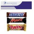Mars ,snikers, twix