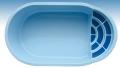 Baseny ogrodowe z laminatu poliestrowo-szklanego    Rozmiar: 6000 x 3000 x 1500mm  Symbol: B-6
