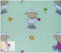 Pieluszki tetrowe owieczki na zielonym tle