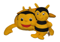 Zestaw poduszka i maskotka Pszczoła Ola