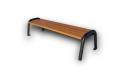 Ławka stalowa nr 156BO z drewnianym impregnowanym siedziskiem