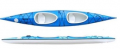 Dwuosobowy kajak Turystyczno-Sportowy  doskonały na spływy kajakowe