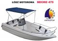 Necko 475, doskonała łódź motorowa dla wędkarzy i do rekreacji