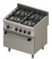 4-palnikowa kuchnia gazowa z piekarnikiem elektrycznym