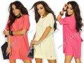 Asymetryczna trapezowa sukienka tunika #MM17#
