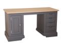 Drewniane biurko z dębowym blatem Prowansja Lux18