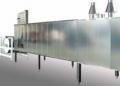 Piec tunelowy gazowy o wydajności 290 lub 380 kg/h. Modułowa konstrukcja zaprojektowana do pracy jako część linii technologicznej.