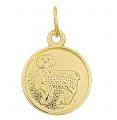 Medaliki, znaki zodiaku, zawieszki celebrytki, na rzemyk, krzyżyki, medaliki, literki, przywieszki postaci świętych wykonane z pozłacanego srebra próby 925.