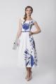 Tatiana T stylizowana na lata 50-te sukienka letnia, odcinana w talii, dół z półkola, długość do połowy łydki . Bardzo kobieca i subtelna