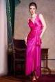 """Wioletta, efektowna długa suknia """"Grace style"""" z rozcięciem, z połyskliwego szyfonu. Idealna na wesele, studniówkę, sylwestra oraz inne imprezy."""