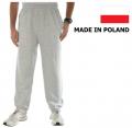 Spodnie dresowe męskie kolor szary melanż, czarny i grafitowy, dostępny fason ze ściągaczami lub bez ściągaczy.