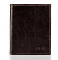 Elegancki portfel męski ze skóry naturalnej, płaski.