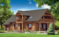 Hunting cottages and houses, apartments, recreational, weekend built of pine.