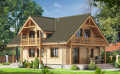 Exclusive, beautiful, fashionable and natural houses and apartment buildings built of pine logs round, or square.