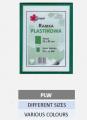 Plastikowe ramki na zdjęcia w różnych rozmiarach i kolorach.